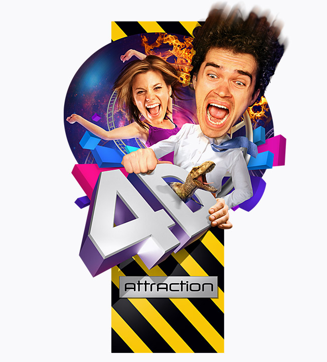 Marketing concepts & ideas , Creation of the exciting and dynamic image  for «4D» attraction
