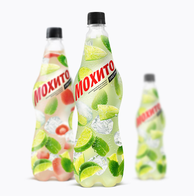 Printing materials & packaging , Packaging of soft drink «Mojito fresh»